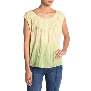 NWT Anthropologie Free People Yellow Ombre Blouse